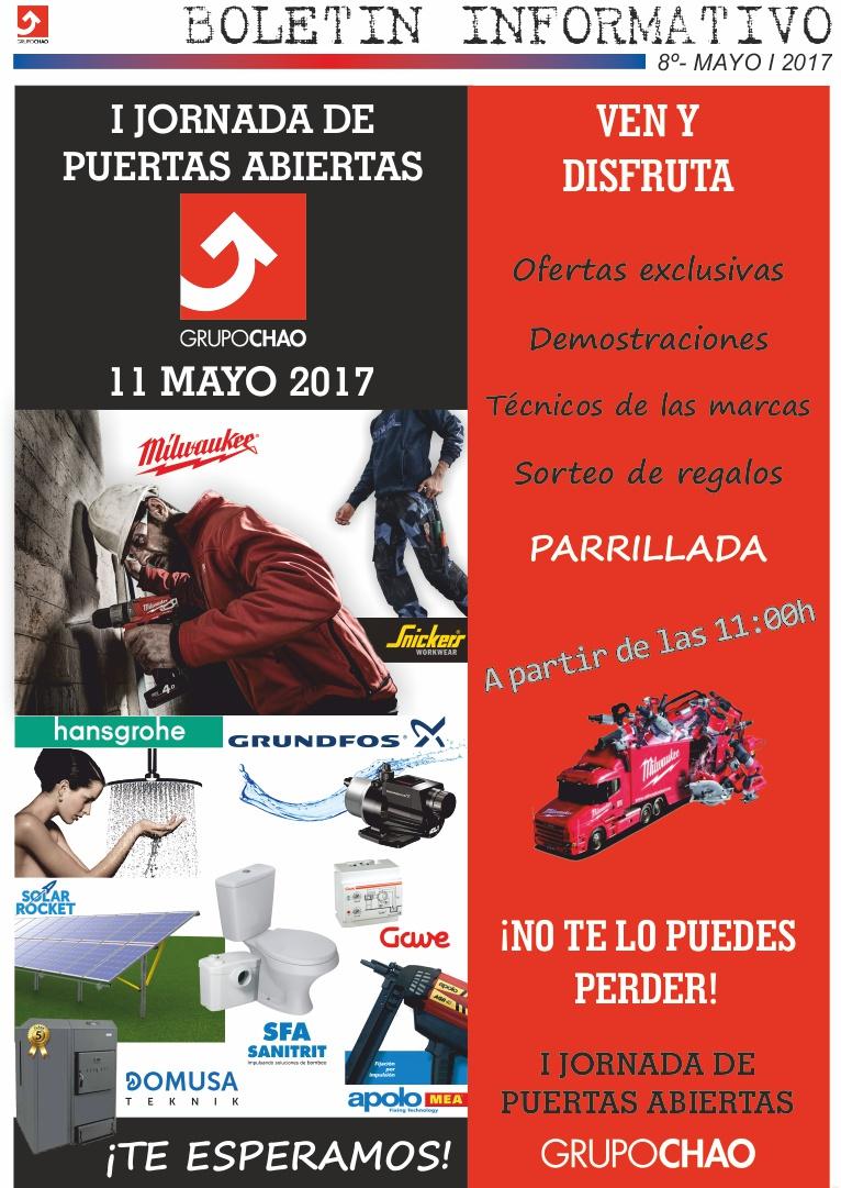 I jornada de puertas abiertas grupo chao grupo chao for Tarifa hansgrohe 2017